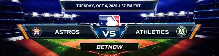 Houston Astros vs Oakland Athletics 10-06-2020 Game Analysis Spread and Previews