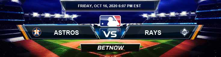 Houston Astros vs Tampa Bay Rays 10/16/2020 Baseball Betting, Tips and Forecast