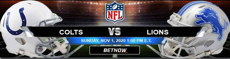 Indianapolis Colts vs Detroit Lions 11-01-2020 Spread Game Analysis and Tips