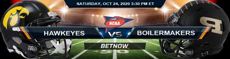 Iowa Hawkeyes vs Purdue Boilermakers 10-24-2020 NCAAF Previews Spread & Game Analysis