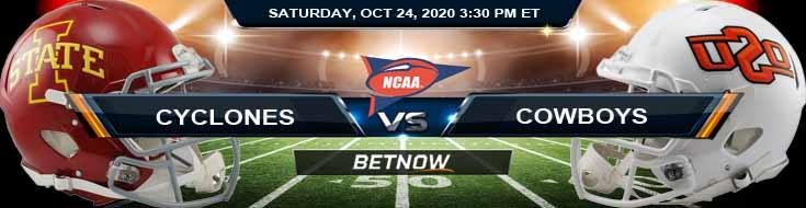 Iowa State Cyclones vs Oklahoma State Cowboys 10-24-2020 NCAAF Previews Picks & Spread