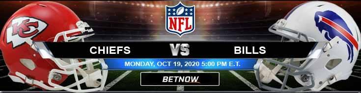 Kansas City Chiefs vs Buffalo Bills 10-19-2020 Odds NFL Picks and Predictions