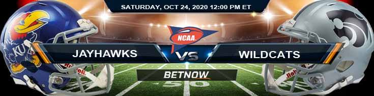 Kansas Jayhawks vs Kansas State Wildcats 10-24-2020 NCAAF Results Odds & Predictions