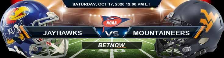 Kansas Jayhawks vs West Virginia Mountaineers 10-17-2020 NCAAF Previews Spread & Game Analysis