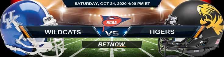 Kentucky Wildcats vs Missouri Tigers 10-24-2020 NCAAF Tips Odds & Predictions