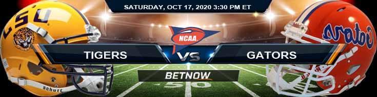 LSU Tigers vs Florida Gators 10-17-2020 NCAAF Previews Tips & Results