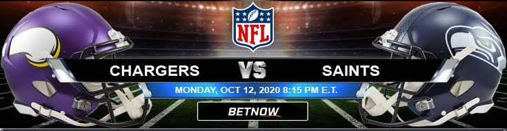 Los Angeles Chargers vs New Orleans Saints 10-12-2020 Forecast Results and Odds