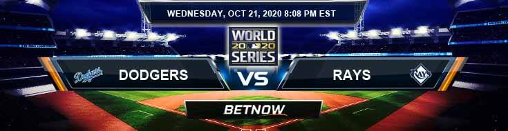 Los Angeles Dodgers vs Tampa Bay Rays 10/21/2020 World Series Game 2 Previews, Spread and Game Analysis