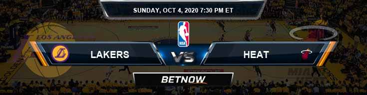 Los Angeles Lakers vs Miami Heat 10-4-2020 Odds, Picks and Prediction