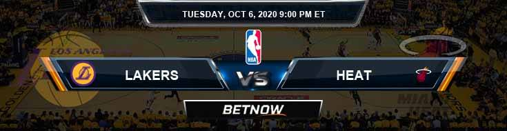 Los Angeles Lakers vs Miami Heat 10-6-2020 Odds Picks and Previews