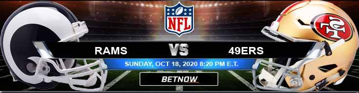 Los Angeles Rams vs San Francisco 49ers 10-18-2020 Picks NFL Predictions and Previews