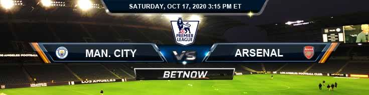 Manchester City vs Arsenal 10-17-2020 Previews Predictions and Spread