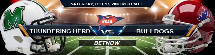 Marshall Thundering Herd vs LA Tech Bulldogs 10-17-2020 NCAAF Odds Previews & Tips