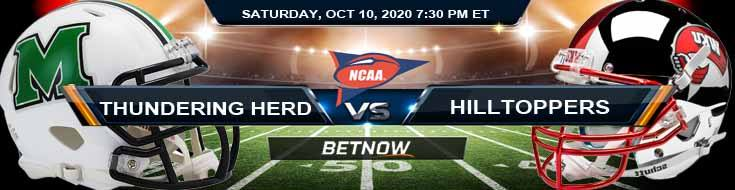 Marshall Thundering Herd vs WKU Hilltoppers 10-10-2020 NCAAF Results Odds & Predictions