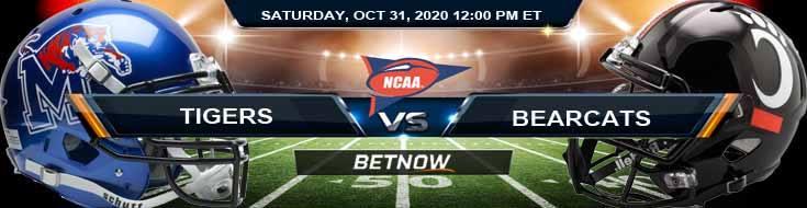 Memphis Tigers vs Cincinnati Bearcats 10-31-2020 NCAAF Previews Spread & Game Analysis