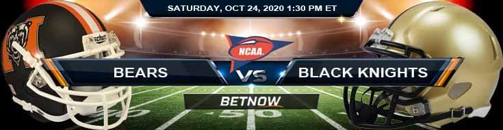 Mercer Bears vs Army Black Knights 10-24-2020 NCAAF Odds Previews & Tips