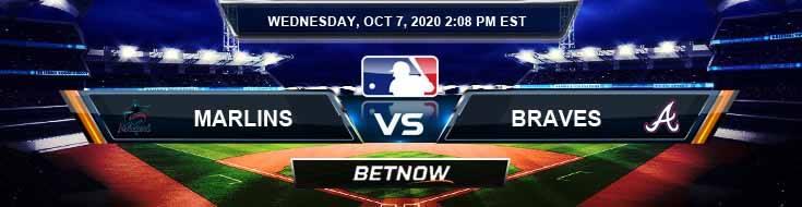 Miami Marlins vs Atlanta Braves 10-07-2020 Odds MLB Picks and Predictions