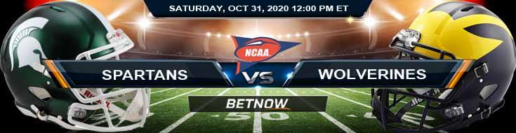 Michigan State Spartans vs Michigan Wolverines 10-31-2020 NCAAF Tips Odds & Predictions