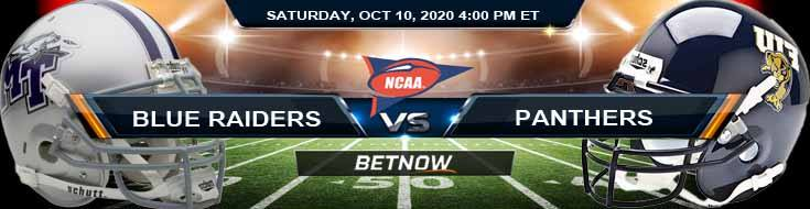 Middle Tennessee Blue Raiders vs FIU Panthers 10-10-2020 Spread Game Analysis and NCAAF Tips