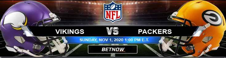 Minnesota Vikings vs Green Bay Packers 11-01-2020 Game Analysis NFL Tips and Forecast