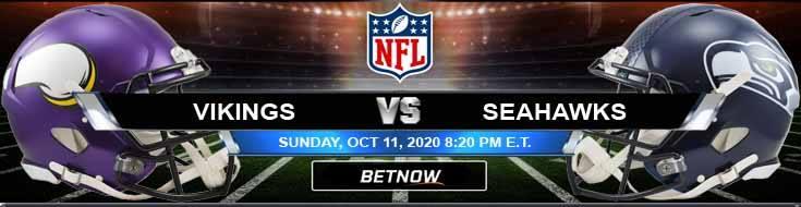 Minnesota Vikings vs Seattle Seahawks 10-11-2020 Picks NFL Previews and Game Analysis