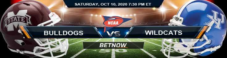 Mississippi State Bulldogs vs Kentucky Wildcats 10-10-2020 NCAAF Game Analysis Tips & Spread