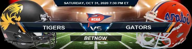Missouri Tigers vs Florida Gators 10-31-2020 NCAAF Predictions Odds & Previews