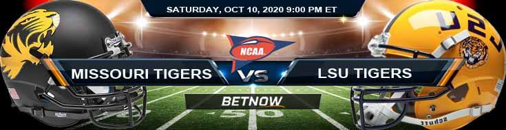 Missouri Tigers vs LSU Tigers 10-10-2020 NCAAF Picks Previews & Game Analysis