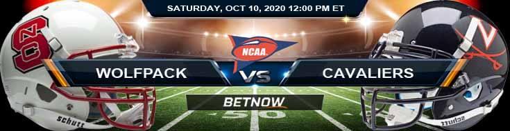 NC State Wolfpack vs Virginia Cavaliers 10-10-2020 NCAAF Results Odds & Predictions
