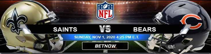 New Orleans Saints vs Chicago Bears 11-01-2020 Football Betting Odds and NFL Picks