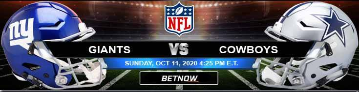 New York Giants vs Dallas Cowboys 10-11-2020 Tips Results and Odds