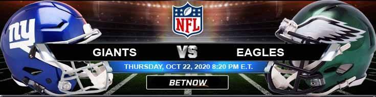 New York Giants vs Philadelphia Eagles 10-22-2020 Odds NFL Picks and Predictions