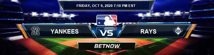 New York Yankees vs Tampa Bay Rays 10/09/2020 Odds, MLB Picks and Predictions