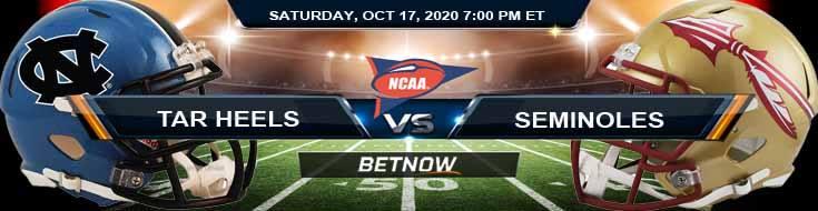 North Carolina Tar Heels vs Florida State Seminoles 10-17-2020 NCAAF Previews Tips & Game Analysis
