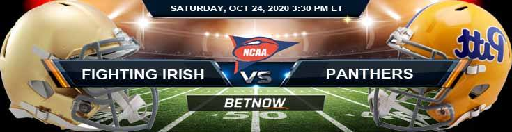 Notre Dame Fighting Irish vs Pittsburgh Panthers 10-24-2020 NCAAF Game Analysis Forecast & Tips