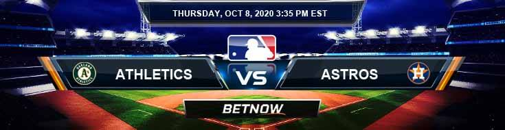 Oakland Athletics vs Houston Astros 10/08/2020 Tips, Baseball Betting and Game Analysis