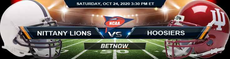 Penn State Nittany Lions vs Indiana Hoosiers 10-24-2020 NCAAF Tips Odds & Predictions