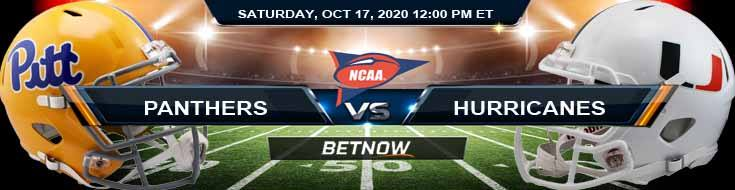Pittsburgh Panthers vs Miami-FL Hurricanes 10-17-2020 NCAAF Previews Odds & Spread