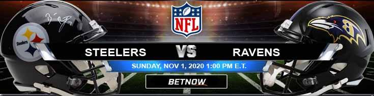 Pittsburgh Steelers vs Baltimore Ravens 11-01-2020 Analysis Results and Football Betting