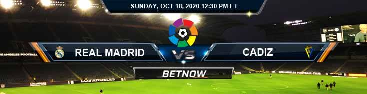 Real Madrid vs Cadiz 10-18-2020 Picks Predictions and Previews