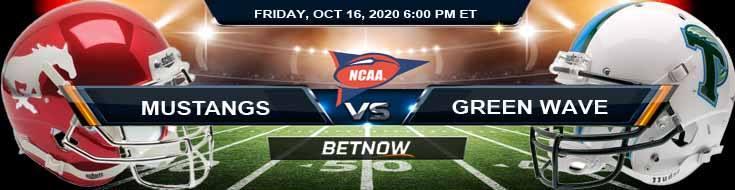 SMU Mustangs vs Tulane Green Wave 10-16-2020 NCAAF Spread Picks & Previews
