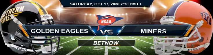Southern Miss Golden Eagles vs UTEP Miners 10-17-2020 NCAAF Tips Previews & Game Analysis