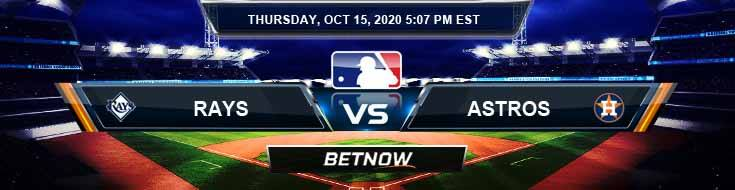 Tampa Bay Rays vs Houston Astros 10-15-2020 Odds Predictions and Spread