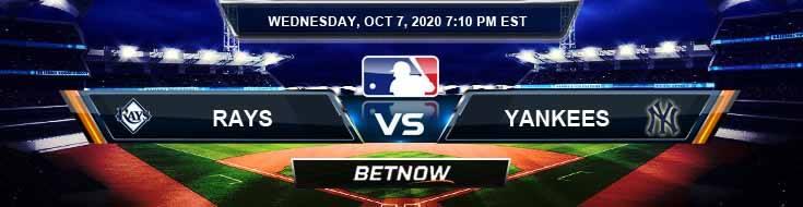 Tampa Bay Rays vs New York Yankees 10-07-2020 Predictions MLB Previews and Spread