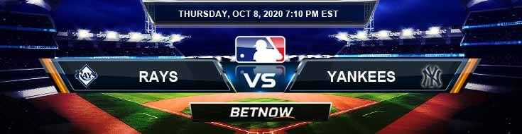 Tampa Bay Rays vs New York Yankees 10-08-2020 Spread Previews and Predictions