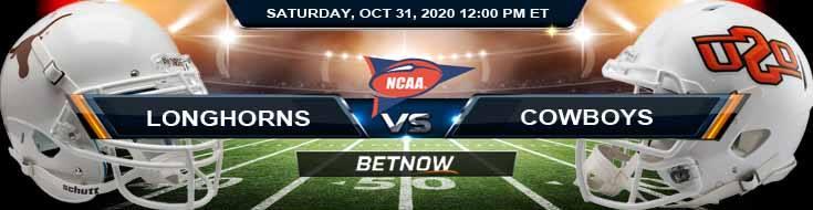 Texas Longhorns vs Oklahoma State Cowboys 10-31-2020 NCAAF Previews Tips & Results