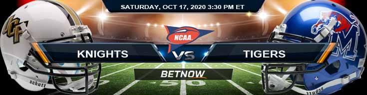 UCF Knights vs Memphis Tigers 10-17-2020 NCAAF Previews Picks & Spread