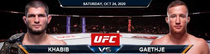 UFC 254 Khabib vs Gaethje 10-24-2020 Odds Picks and Predictions