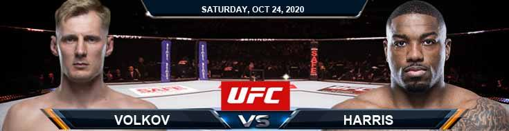 UFC 254 Volkov vs Harris 10-24-2020 Predictions Previews and Spread