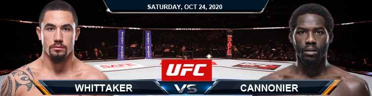 UFC 254 Whittaker vs Cannonier 10-24-2020 Picks Predictions and Previews
